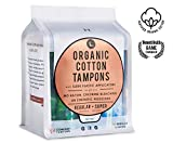 L. Organic Cotton Tampons with BPA-Free Applicators, Regular + Super Absorbency 48 Count