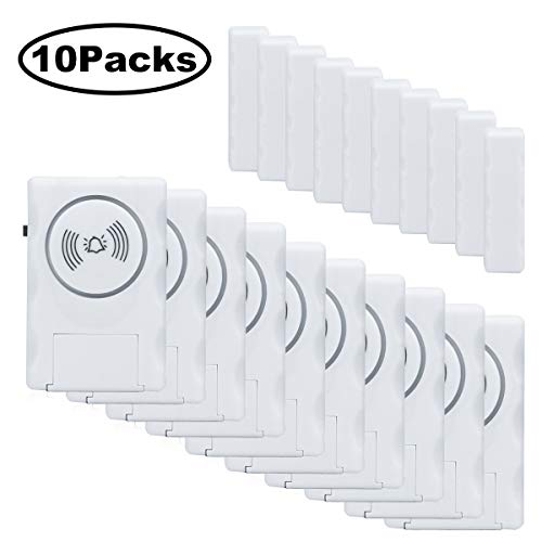 Door Window Alarms, HUMUTU 120 DB Pool Alarm for Doors, Magnet Triggered Pool Window Door Alarms (10 Packs)