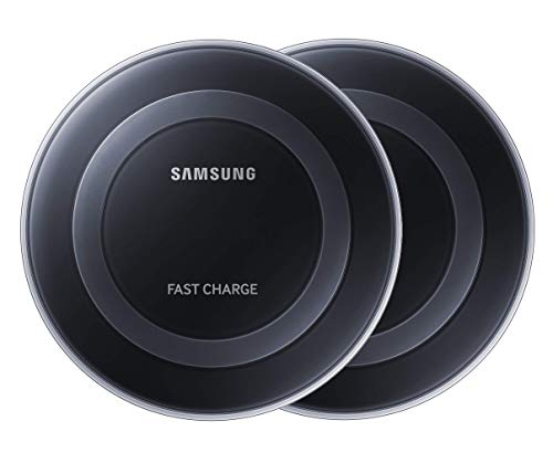 Samsung Qi Certified Fast Charge Wireless Charger Pad - US Version - Black (2- Pack) - EP-BD010MIXLUS