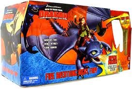 How to Train Your Dragon Fire Breathing Night Fury New