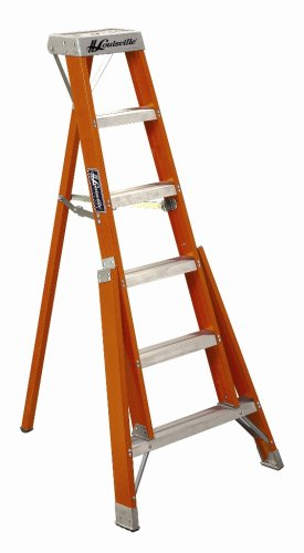 Louisville Ladder FT1012 300-Pound Duty Rating Fiberglass Tripod Ladder, 12-Foot
