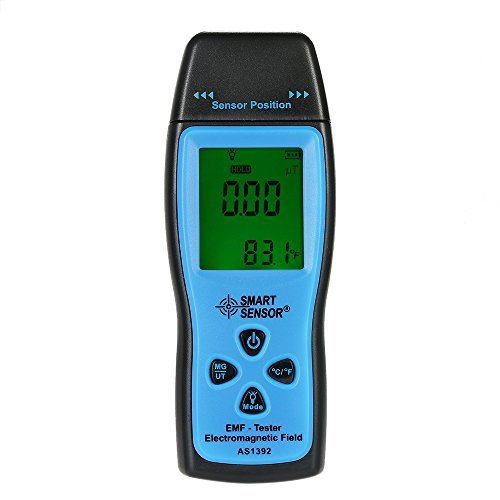 KKmoon EMF Meter Handheld Mini Digital LCD EMF Tester Electromagnetic Field Radiation Detector Meter Dosimeter Tester Counter