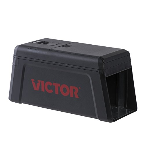 Victor M241 No Touch, No See Upgraded Electronic Rat Trap, 1 Black