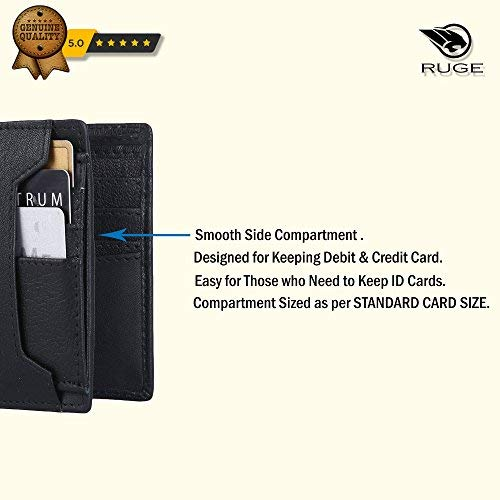 Ruge Genuine Leather RFID Blocking Men's Wallet - Antique Brown 4
