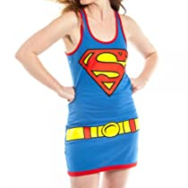 DC Comics Supergirl Juniors Blue Costume Tank Top Dress