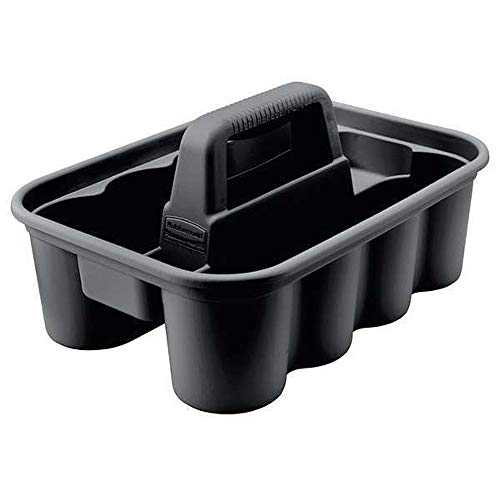 Rubbermaid-Deluxe-Carry-Caddy-for-Cleaning-Products-Spray-Bottles-SportsWater-Bottles-and-PostmatesUber-Eats-Drivers-Black-FG315488BLA
