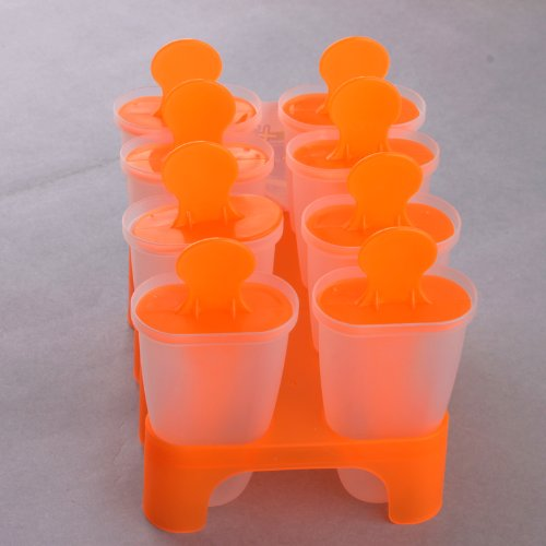 Ostart 8 Cell Frozen Ice Cream Pop Mold Popsicle Maker Lolly Mould Tray Pan Kitchen DIY