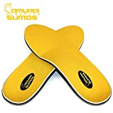 Samurai Insoles Sumos- Super-Padded Orthotics for Flat Feet- Perfect for Work Boots, Roomy Sneakers or Shoes (Mens 8-8 1/2   Womens 10-10 1/2)