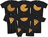 Pizza Pie with 6 Slices | Dad Father Men's T-Shirt | X-Large, Black