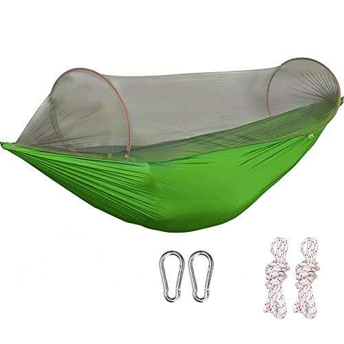 G4Free Portable Camping Hammock Mosquito Net Hammock Tent Capacity 400 Pounds Outdoor Foldable Tree Hammocks(110x50 inch)(Green)