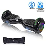 "SWEETBUY Hoverboard UL 2272 Certified 6.5"" Two-Wheel Self Balancing Electric Scooter with LED Light Flash Lights Wheels (Free Carry Bag)"
