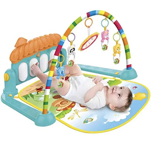 Toyify Baby Play Mat Activity Gym with Kick Piano Keyboard, Baby Mat Designed with Colorful and Detachable Baby Toys in Activity Center for Tummy Time Boys and Girls Aged 0 to 12 Months [ Washable ]