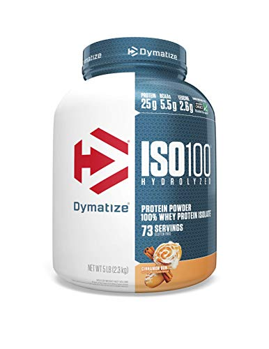 Dymatize Nutrition ISO 100 Hydrolyzed 100% Whey Protein Isolate – 2.3 kg (Cinnamon Bun)