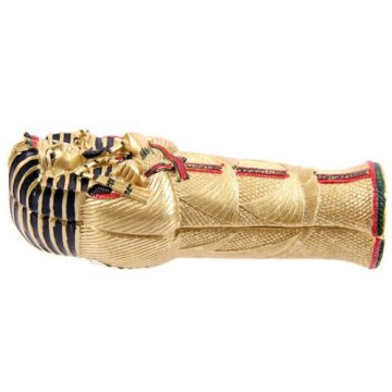 Gold Egyptian Tutankhamen Sarcophagus Trinket Box With Mummy 3