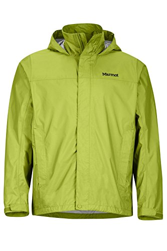 Marmot Men's PreCip Jacket, Green Lichen, M