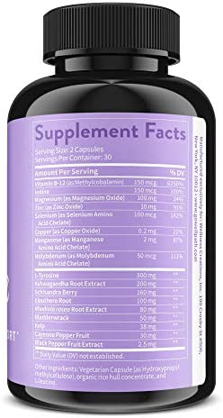 Soothe Thyroid Support and Adrenal Support Supplement - 2 in 1 Natural Formula to Support Energy, Metabolism, Adrenal Fatigue Response, Stress Response, and Cortisol Balance 4