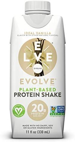 Evolve Protein Shake, Ideal Vanilla, 20g Protein, 11 Fl Oz (Pack of 12) 1