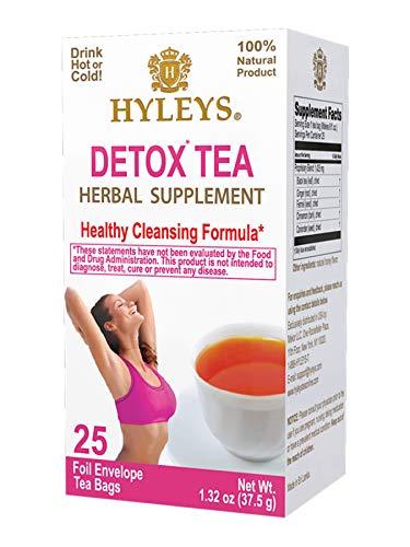 Hyleys Wellness Detox Green Tea - 25 Tea Bags (100% Natural, Sugar Free, Gluten Free and Non-GMO) 1