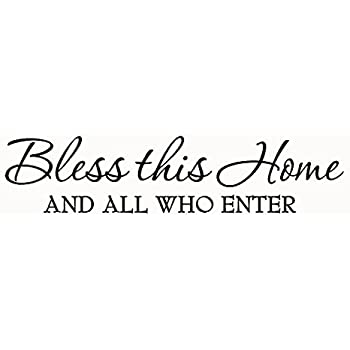 Download Amazon.com: Bless This Home with Love and Laughter Decal ...