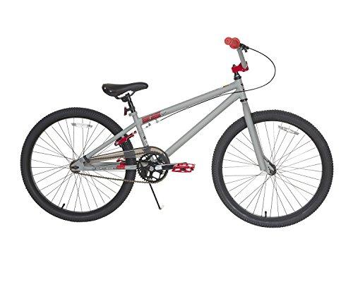 """TONY HAWK Men's Dynacraft Aftermath Bike, Grey/Black/Red, 24"""""""