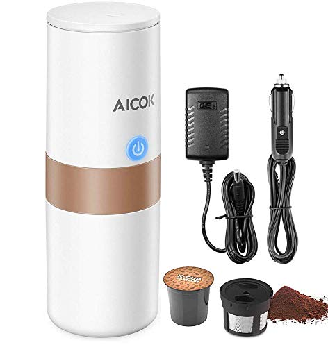Portable-Single-Serve-Coffee-Maker-2-in-1-Coffee-Machine-for-for-Most-Single-Cup-Pods-including-K-Cup-Pods-With-Reusable-K-Cup-Filter-Rechargeable-Battery-Perfect-for-Camping-Travel