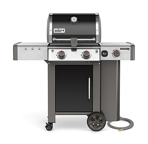 Weber 65014001 Genesis II LX E-240 Natural Gas Grill, Black, Two-Burner,