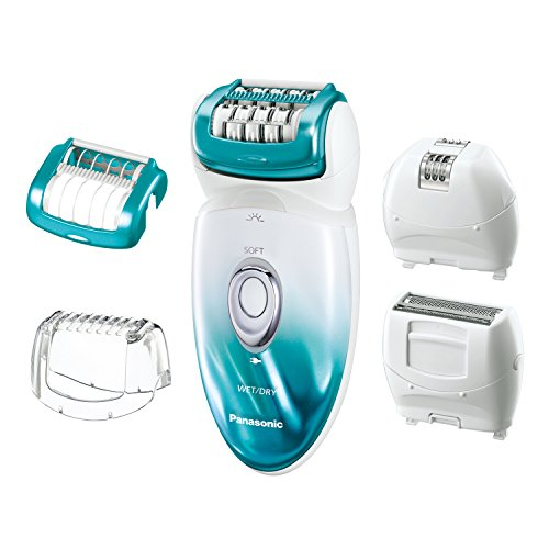 Panasonic ES-ED70-G Multi-Functional Wet/Dry Shaver and Epilator for Women, with Five Hair Removal Attachments and Travel Pouch