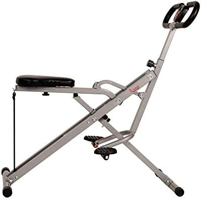 Sunny Health & Fitness Squat Assist Row-N-Ride Trainer for Squat Exercise and Glutes Workout 4