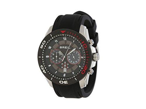 Breil Milano TW1219 10010050 Edge Chronograph Black Red Stainless Steel Men's Watch