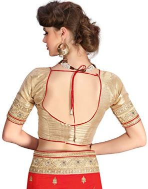 SARVADARSHI-FASHION-Womens-Brocade-Silk-Saree-With-Un-stitched-Blouse