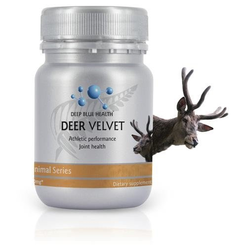 Deep Blue Health New Zealand Deer Velvet - 500mg x 30 Capsules