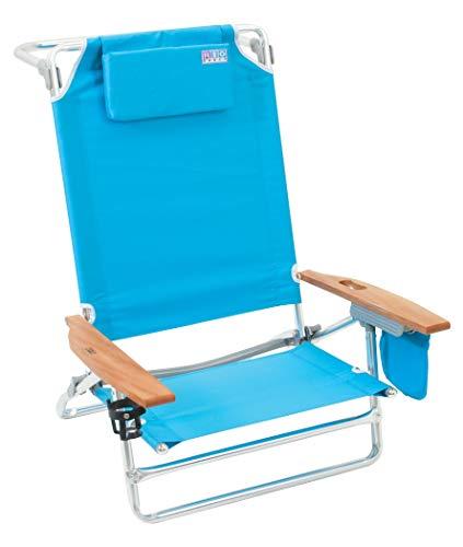 Rio Beach Big Kahuna Extra Large Folding Beach Chair,  Turquoise (Renewed)