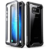 i-Blason Case for Galaxy S8+ Plus 2017 Release, Ares Full-Body Rugged Clear Bumper Case with Built-in Screen Protector for Samsung Galaxy S8+ Plus (Black)