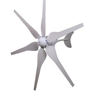 Maxwolf Wind Turbine Generator Wind Generator Wind Turbine Kit 12V DC 300W 6 Blades Carbon Fiber Move Mutely Volt Option Electric