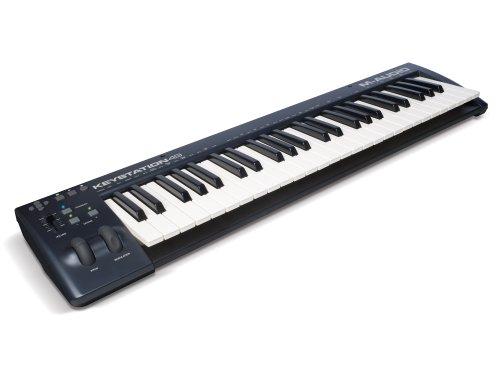 M-Audio Keystation 49 II | 49-Key USB MIDI Keyboard Controller with Pitch-Bend & Modulation Wheels