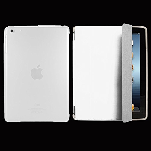 "41t5qc6j40L - ebestStar - compatible with iPad 4 Smart Cover Retina, iPad 3, iPad 2 Ultra Slim Case [Front face only] Stand Protective Shell Auto Wake/Sleep +Mini Stylus, White [iPad: 241.2x185.7x9.4mm 9.7""]"