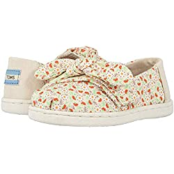 TOMS Kids Baby Girl's Alpargata (Toddler/Little Kid) Birch Local Floral Print/Bow 6 M US Toddler