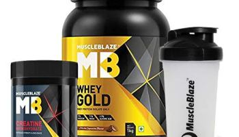MuscleBlaze Whey Gold Protein Isolate, 1 kg/2.2 lb (Mocha Cappucino) With 100g Creatine & Shaker Free