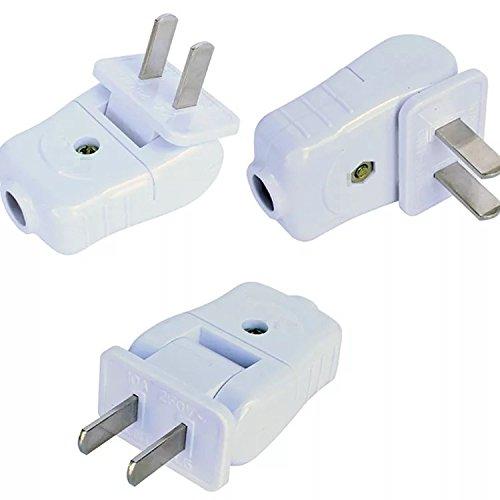 2 Wire Plug, Light Duty, Straight Blade, Residential Polarized Plug ...