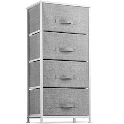 Dresser with 4 Drawers – Tall Storage Tower Unit Organizer for Bedroom, Hallway, Closet, College Dorm – Chest Drawer for…