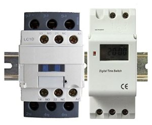 24 Hour 7 day Pool Pump Timer & Contactor 30A 3 Pole, Rated 120 208 240 460 V, for Operation 120VAC