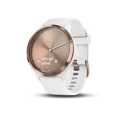 Garmin vívomove HR, Hybrid Smartwatch for Men and Women, White/Rose Gold