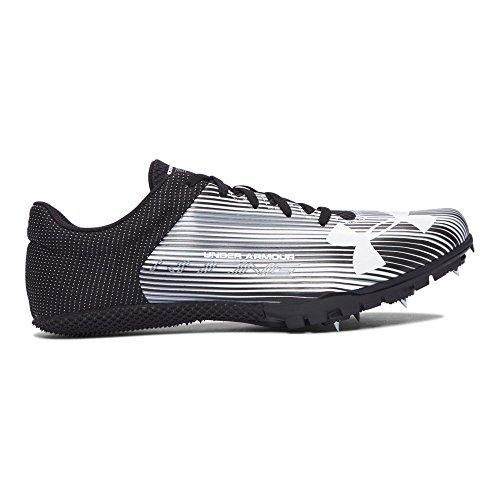 Under Armour Men's Kick Sprint Spike Running Shoe, White (100)/Black, 11