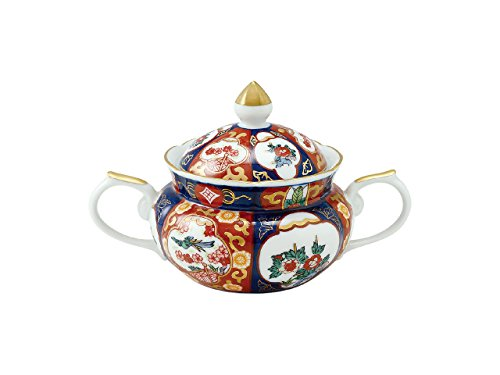 Sugar Bowl with wooden box Old Imari style Phoenix 45027400, Asian, Oriental, Japanese dish plates Traditional Collection/Yamashita Craft
