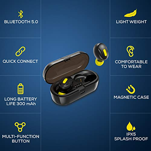 41tETy3d5VL WeCool Moonwalk Mini Earbuds with Magnetic Charging Case IPX5 Wi-fi Earphones with Digital Battery Indicator for Crisp Sound Bluetooth Earphones for Safe Sports activities Match