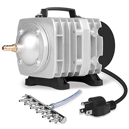 VIVOSUN Air Pump 950 GPH 32W 60L/min 6 Outlet Commercial Air Pump for Aquarium and Hydroponic Systems