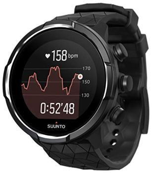 Suunto 9 Baro Durable Multisport GPS Watch with Barometric Altitude and Wearable4U Power Pack Bundle (Titanium)