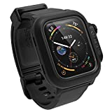 Catalyst Waterproof for Apple Watch Case Series 4 44mm with Premium Soft Silicone Apple Watch Band, Shock Proof Impact Resistant [Rugged iWatch Protective case] 330ft 100% Waterproof- Stealth Black