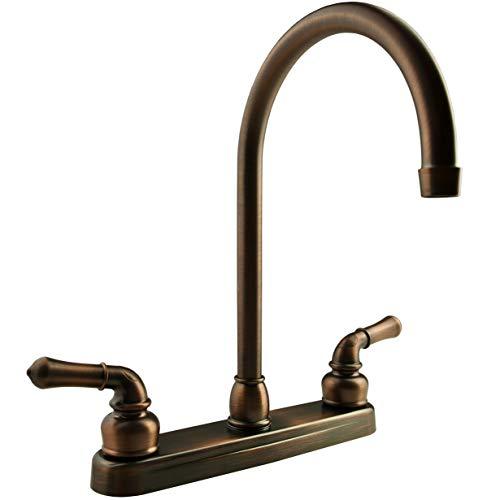 Dura Faucet (DF-PK330HC-ORB) J-Spout RV Kitchen Faucet Oil Rubbed Bronze - Replacement Faucet for Motorhomes, 5th Wheel, Trailer, Camper