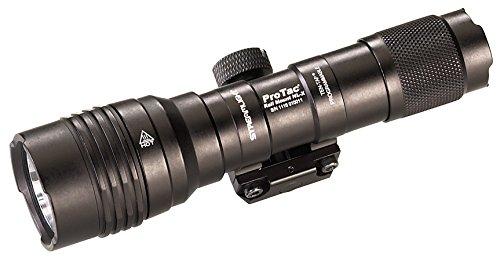 Streamlight 8866 Pro Tac Rail Mount HL-X, 1, Lumen Professional Tactical Flashlight with High/Low/Strobe Dual Fuel use 2X CR 123A or 1 x 1865 Batteries - 1 Lumens, Black